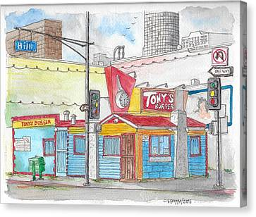 Tony Burger, Downtown Los Angeles, California Canvas Print