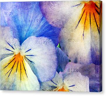 Garden Flowers Canvas Print - Tones Of Blue by Darren Fisher