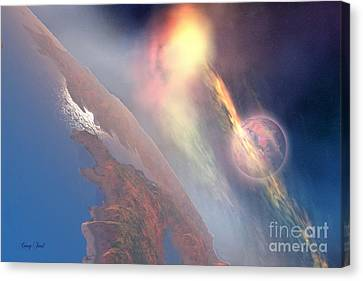 Tongues Of Fire Canvas Print by Corey Ford