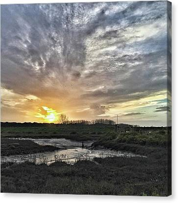 Landscapes Canvas Print - Tonight's Sunset From Thornham by John Edwards