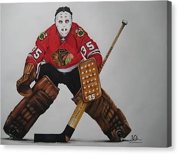 Nhl Hockey Canvas Print - Tony Esposito by Brian Schuster