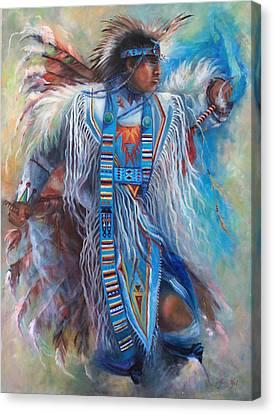 Tony Fuentas Fancy Dancer Canvas Print by Gail Salitui