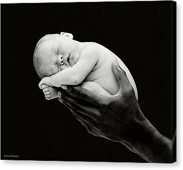 Tony Holding Georgia Canvas Print by Anne Geddes
