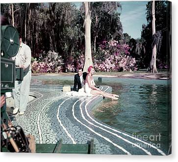 Tony Martin And Esther Williams Canvas Print by The Harrington Collection