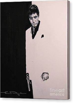 Tony Montana - Scarface Canvas Print by Eric Dee