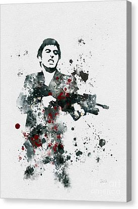 Tony Montana Canvas Print by Rebecca Jenkins