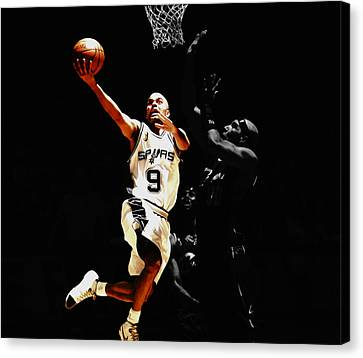 All Star Game Canvas Print - Tony Parker Left Hand by Brian Reaves