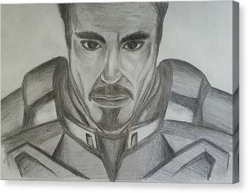 Tony Stark Canvas Print by Andrew Chan