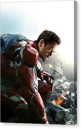 Tony Stark Iron Man Canvas Print by Unknown