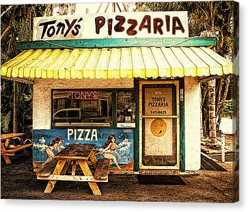 Screen Doors Canvas Print - Tony's Pizzaria by Ron Regalado