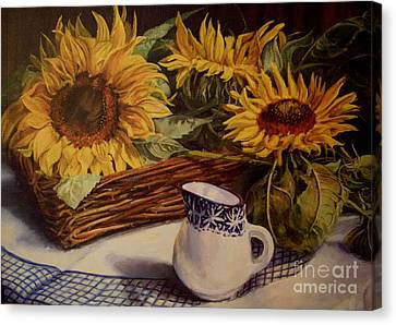 Tony's Sunflowers Canvas Print by Beatrice Cloake