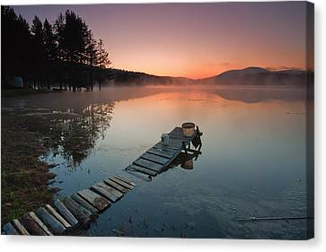 Too Early For Fishing Canvas Print by Evgeni Dinev