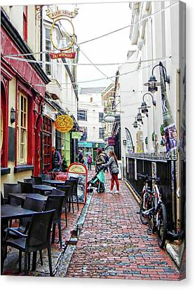 Too Early To Eat In The Lanes Brighton Canvas Print by Dorothy Berry-Lound