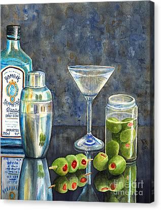 Too Many Doubles Canvas Print by Karen Fleschler