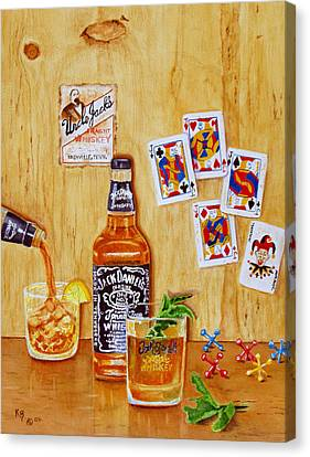 Too Many Jacks Canvas Print by Karen Fleschler