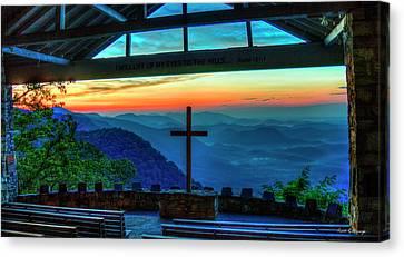 Smokey Mountains Canvas Print - Too Pretty Symmes Chapel Pretty Place Chapel Greenville South Carolina Art by Reid Callaway