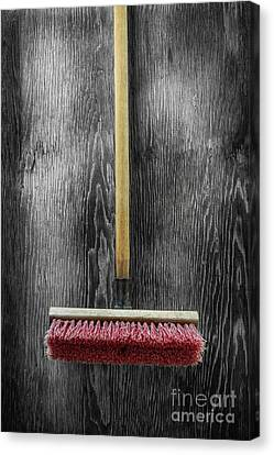 Canvas Print featuring the photograph Tools On Wood 14 On Bw by YoPedro