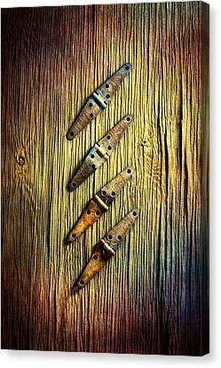 Galvanize Canvas Print - Tools On Wood 45 by YoPedro