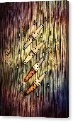 Tools On Wood 48 Canvas Print