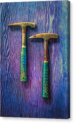 Tools On Wood 65 Canvas Print by YoPedro