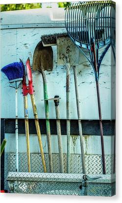 Rake Canvas Print - Tools To Get The Work Done by Terry Davis