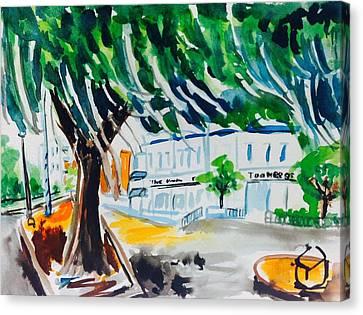 Toomers Oaks Canvas Print - Toomer's Corner by Hae Kim