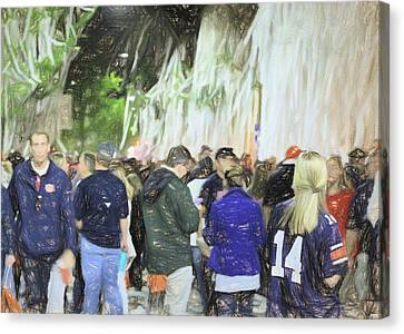 Toomers Oaks Canvas Print - Toomer's Corner The Spot To Be by JC Findley