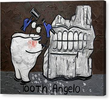 Tooth Angelo Canvas Print by Anthony Falbo