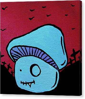 Toothed Zombie Mushroom Canvas Print by Jera Sky