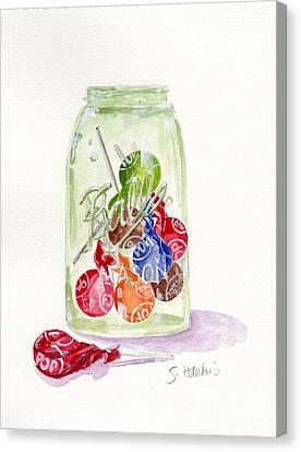 Tootsie Pop Jar Canvas Print