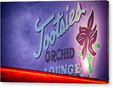 Tootsies Of Nashville Canvas Print by Mike Burgquist