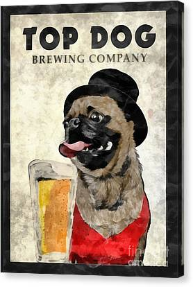 Top Dog Brewing Company Canvas Print by Edward Fielding