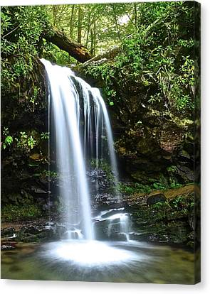 Gatlinburg Tennessee Canvas Print - Top Falls Of Grotto by Frozen in Time Fine Art Photography