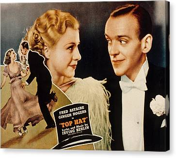 Posth Canvas Print - Top Hat, Lobbycard, Ginger Rogers, Fred by Everett