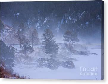 Top Of Boulder Canyon Winter Snow Canvas Print