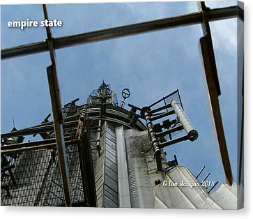 Top Of Empire State Colored  Canvas Print