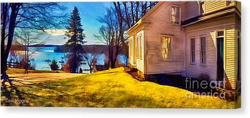 Top Of The Hill, Friendship, Maine Canvas Print by Dave Higgins