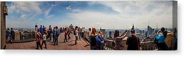 Top Of The Rock Experience Canvas Print by Az Jackson