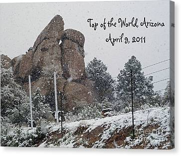 Top Of The World Arizona Canvas Print by Methune Hively
