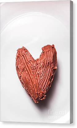 Sweetheart Canvas Print - Top View Of Heart Shaped Chocolate Fudge by Jorgo Photography - Wall Art Gallery
