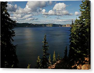 Top Wow Spot - Crater Lake In Crater Lake National Park Oregon Canvas Print by Christine Till