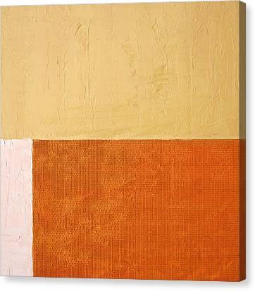 Topaz Pink Orange Canvas Print by Michelle Calkins