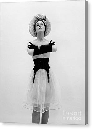 Topless Woman With Long Gloves, C.1950s Canvas Print by Corry/ClassicStock
