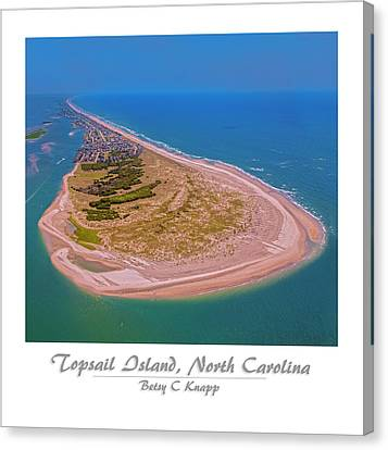 Coastal Places Canvas Print - Topsail Aerial Custom 2 by Betsy Knapp