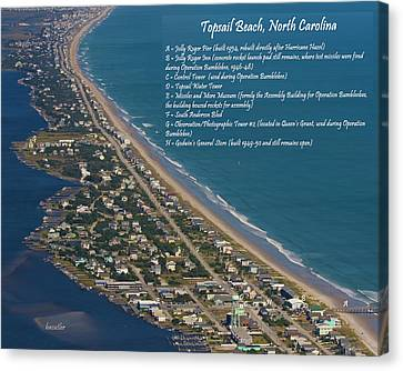 Topsail Beach Canvas Print by Betsy Knapp