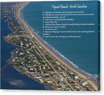 Topsail Beach Canvas Print by Betsy C Knapp