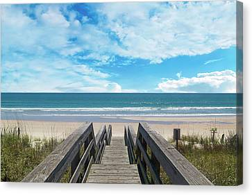 Topsail Island Canvas Print - Topsail Begin Your Tradition Now  by Betsy Knapp