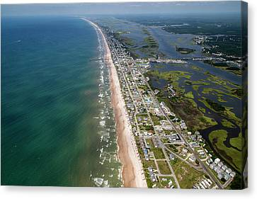 Food Store Canvas Print - Topsail Island Middle Heart by Betsy Knapp
