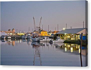 Topsail Island Nc Sound Canvas Print by Betsy C Knapp