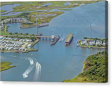 Food Store Canvas Print - Topsail Island Top Of The Hour by Betsy Knapp